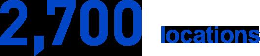 2,700 locations